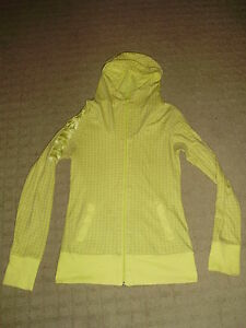 Women's Pale Yellow Bench Hoodie, size S