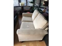M&S neutral sofa excellent cond, slight mark on one arm, never used just bought as a bedroom sofa.