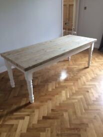 Dining table 8 -10 seater bespoke scaffold board NEW