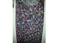 Size 18 floral jumpsuit & denim waistcoat