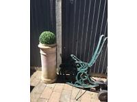 Vintage chimney pot garden wedding prop planter ornament