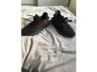 Yeezy boost 350 black and red box & receipt