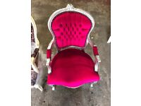 Antique style shabby chic arm chair Pink chair