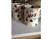 Emma Bridgewater Teapot and Mr and Mrs mugs
