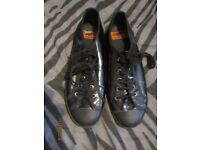 ROCKET DOG BLACK PATENT LACE UP FLAT SHOES SIZE 8 worn a few times so as new condition