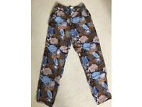 Patterned trousers, H&M size 6