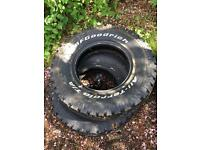 BF GOODRICH ALL-TERRAIN TYRES X2 BRAND NEW 235 75 15 rrp £110 each