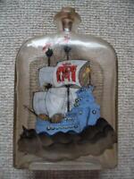 bemalte Glasflasche Schiff Boot Segelboot Flasche Glas Meer Nord - Hamburg Winterhude Vorschau