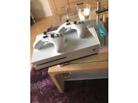 Xbox One S 1 TB with 2 Controllers and 3 Games