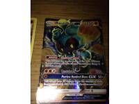 Two shines POKEMON cards.