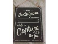 Instagram hashtag board for wedding