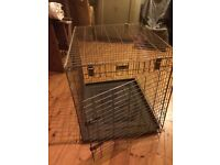 Dog crate large never used