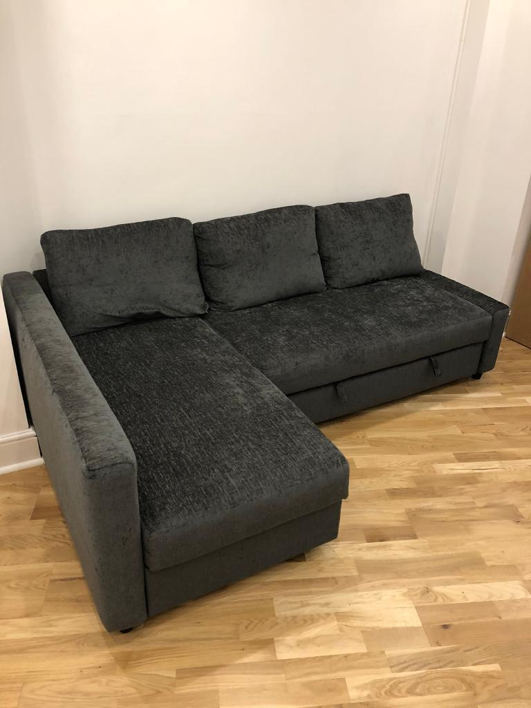 Barely Used Corner Sofa Bed With Storage