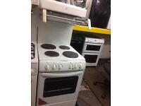 White new world 50cm high level electric cooker grill & fan oven with guarantee