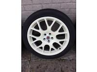 """Rover/ MG set of four 18"""" alloy wheels and tyres"""