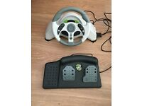 Mad Cats MC2 steering wheel / pedals Xbox 360