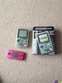 Clear game boy pocket and gb micro