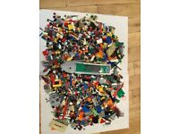 100s or even 1000s of mixed Lego pieces from all sorts of sets.