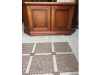 Mahogany style television cabinet