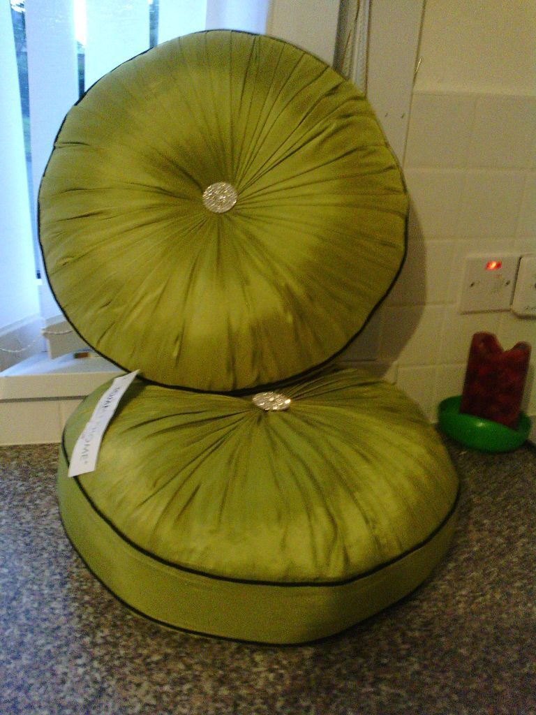 Large circular lime green cushion in Bellshill North  : 86 from www.gumtree.com size 768 x 1024 jpeg 123kB