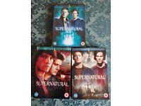 Supernatural dvd sets. 3.4.5.7.8