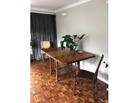 Solid wood extendable table + chairs