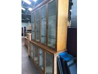 Large Oak Hand built Glass Display Unit REDUCED