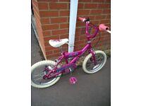 Girls 16-18 inch bike