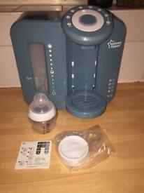 Tommee tippee perfect prep machine real with new bottle and new lid