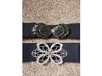 Waist belts stretch shell buttefly silver golden