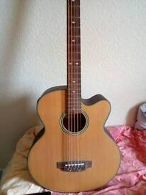 Electric acoustic bass 5 string
