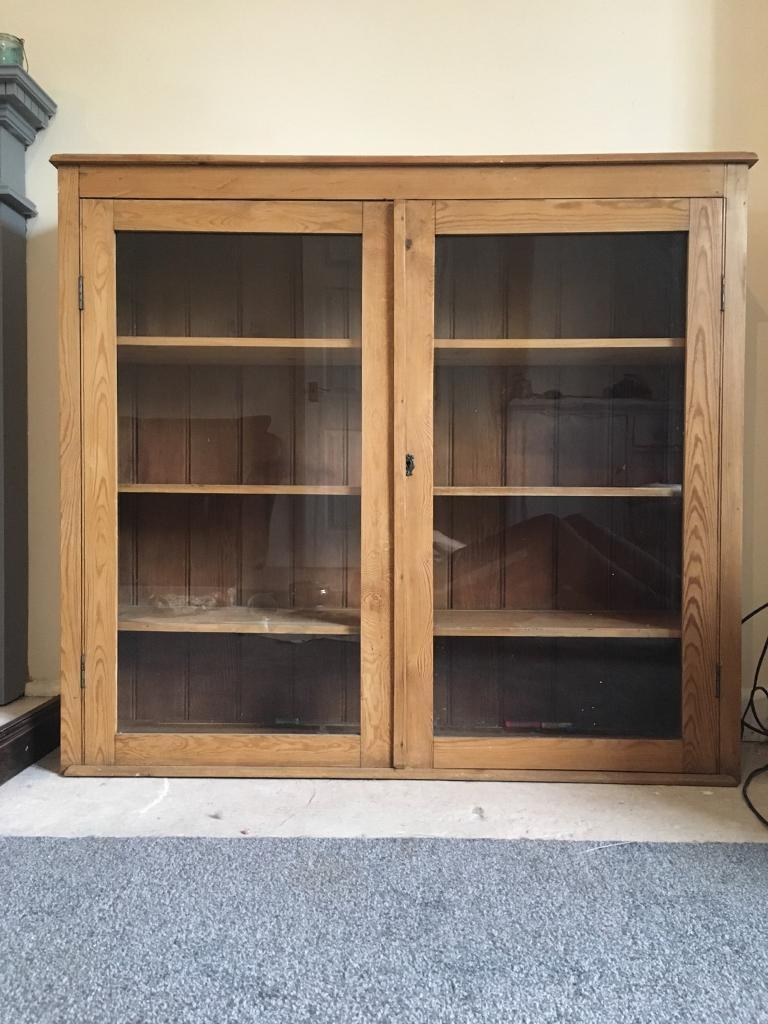 Antique Pine Display Cabinet - Antique Pine Display Cabinet In Audlem, Cheshire Gumtree