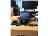 Sony a6000 mirrorless camera with bag and extra batteries