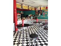 AMERICAN DINER / Takeaway / Fast Food / Cafe /Desserts/ food Shop / Restaurant business for sale