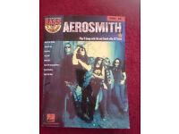 Learn To Play Bass Guitar Hal Leonard Aerosmith Tab Book