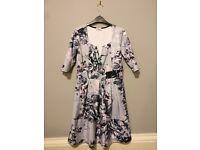 Skater dress, pink & grey, size 16 for sale.