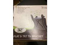 Wall Mount Flat and Tilt TV Bracket (Brand New)