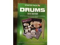 DRUM STARTER / TUITION PACK : GREAT BIRTHDAY GIFT : Boxed, DVD EDITION, also with CDs - AS NEW