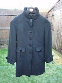 Black Mixed Wool Long Coat