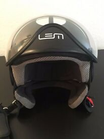 HELMET (ITALIAN MADE) - LEM Roger GoFast Matte Black And White