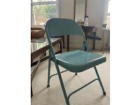 Habitat Macadam Metal Folding Chair - blue