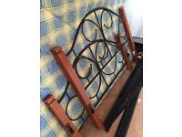 Iron double bed frame and mattress