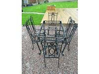 Outdoor garden furniture set table chairs frame