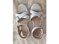 White Sandals Shoes for Summer (size 40) from NEXT
