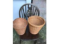 2 wicker baskets FREE DELIVERY PLYMOUTH AREA