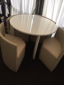 white gloss dining table 4chairs