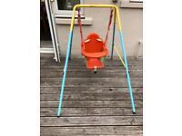 Outdoor garden baby swing