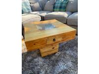 Small Square Insert Top Coffee Table