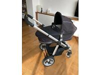 iCandy Apple carrycot, pushchair, car seat (full travel system)