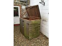 Wooden Double Dustbin Container